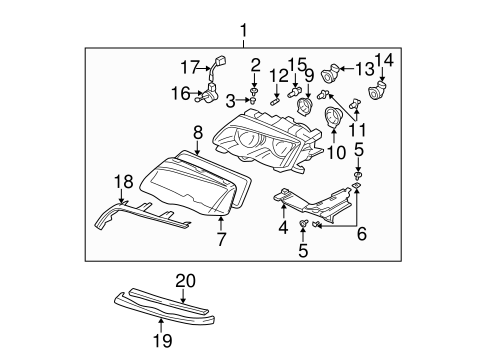 Headlamp Components For 1999 Bmw 328i