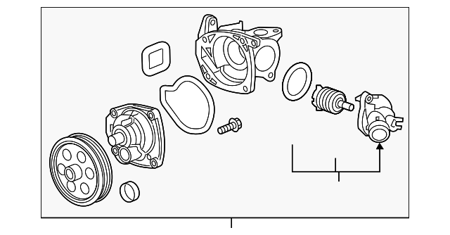 genuine gm water pump assembly 12663910