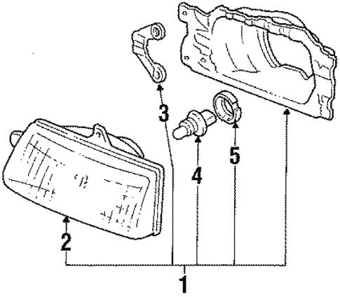 Headlamp Components For 1989 Subaru Justy