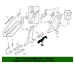 Rear Sill Plate Support - Land-Rover (LR082077)