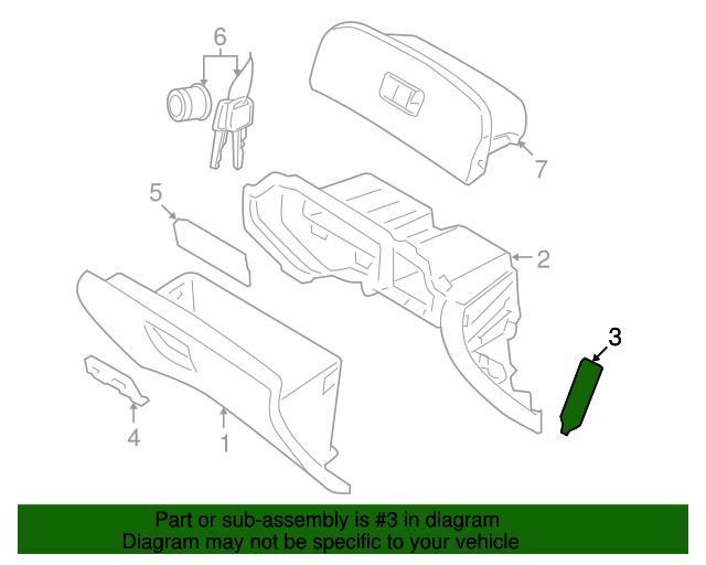 Genuine Hyundai 84548-4D000 Glove Box Air Damper Assembly