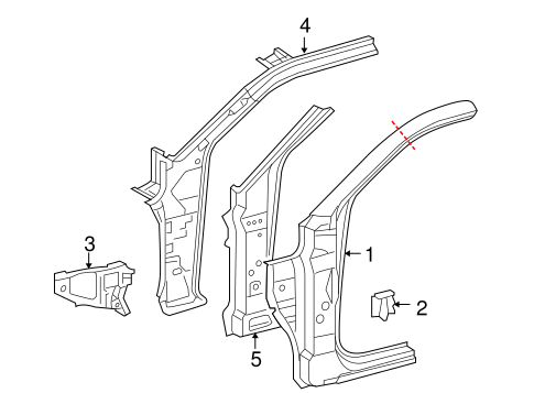 BODY/HINGE PILLAR for 2010 Toyota Tacoma #1