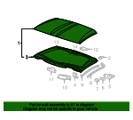 Roof Panels-Removable Transparent - GM (12499572)