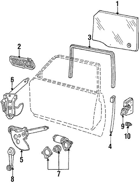 Oem 1987 Ford Ltd Crown Victoria Hardware Parts