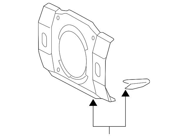 2011 2014 Toyota Fj Cruiser Speaker Cover 86168 0w010