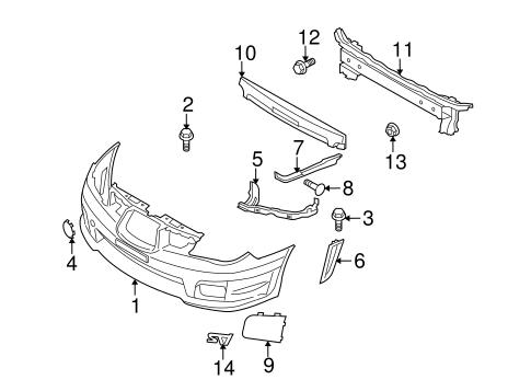 bumper & components - front for 2007 subaru impreza | subaru parts ... subaru impreza parts diagram  subaruparts.com