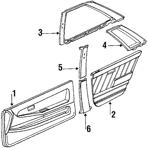 Interior Trim for 1990 Toyota Tercel #0