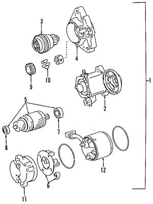 genuine oem toyota starters and alternators parts toyota parts  starter