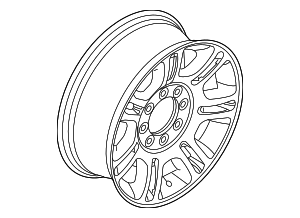 Wheel, Alloy - Ford (DC3Z-1007-A)