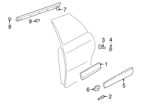 Audi Belt Weather Strip 4b0839479c on audi q5 parts diagram