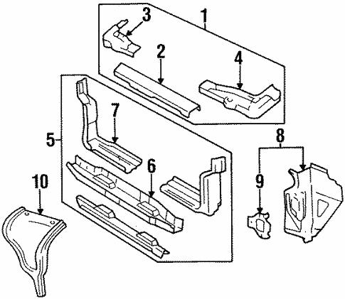 Radiator Support For 1996 Chevrolet Corsica