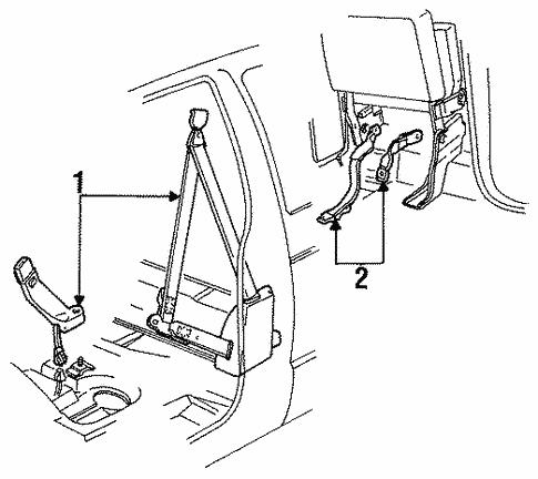 Oem 1989 Chevrolet S10 Seat Belt Parts