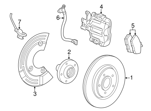 Brakes/Rear Brakes for 2006 Ford Freestyle #1
