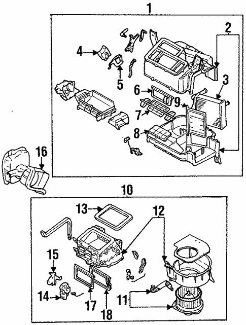 blower motor  u0026 fan for 1997 subaru legacy