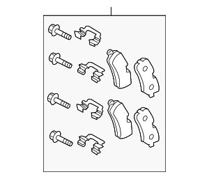 Brake Pads - Land-Rover (LR055455)
