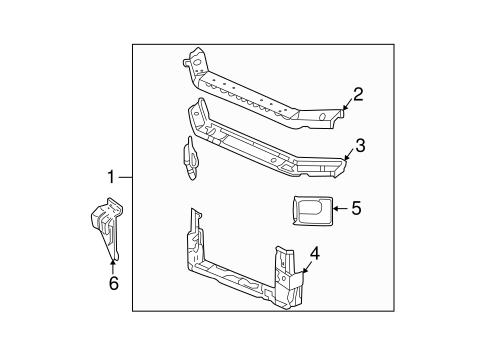 oem 2002 buick regal radiator support parts