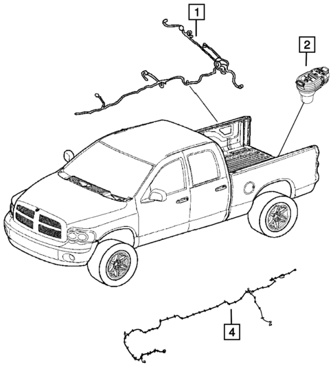 Wiring Body And Accessories For 2013 Ram 1500