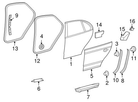 Door Components For 2008 Volkswagen Jetta