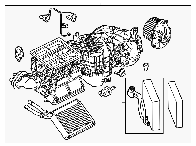 2011 2017 Porsche Cayenne Ac Heater Assembly 958 572 302 04