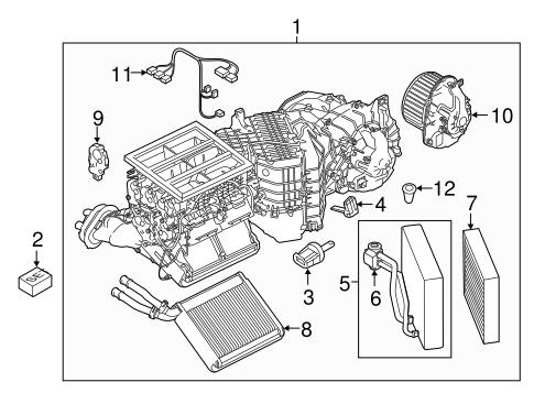 Evaporator Heater Components For 2013 Porsche Cayenne