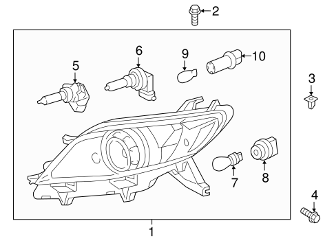 ELECTRICAL/HEADLAMP COMPONENTS for 2012 Toyota Sienna #1