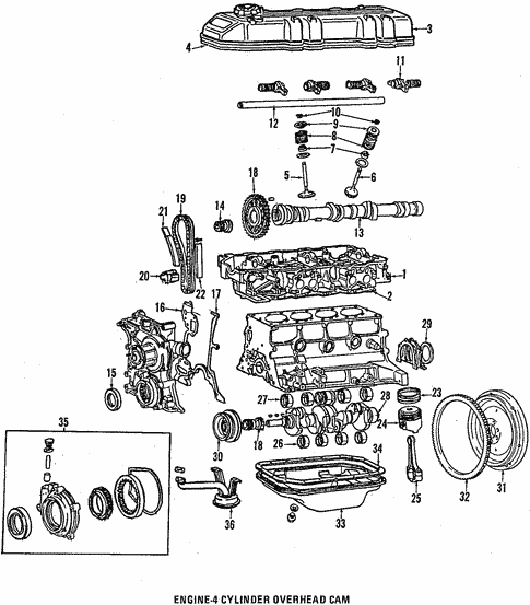 1988 Toyota Engine Parts Diagram