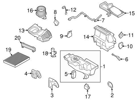 Evaporator Heater Components For 2015 Lincoln Mkt