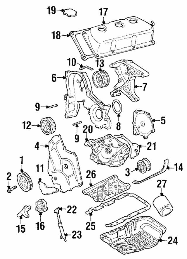 Chrysler 300 Dodge Caravan Engine Timing Cover Gasket Mopar OEM