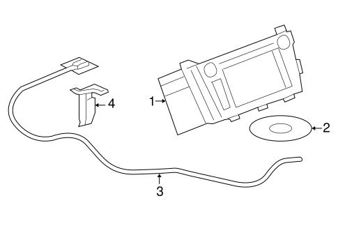 Oem 2008 Buick Lucerne Navigation System Parts