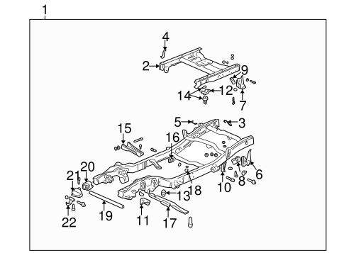 Frame Components For 2002 Gmc Sierra 1500 Gm Parts Center