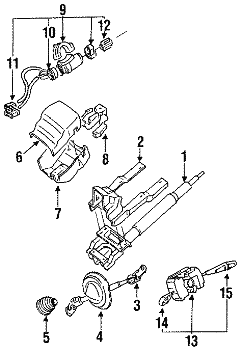 Steering Column Assembly For 1998 Mitsubishi 3000gt
