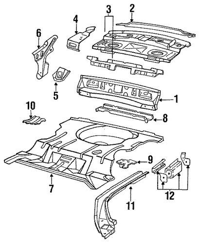 Oem 1993 Chevrolet Lumina Rear Floor Amp Rails Parts