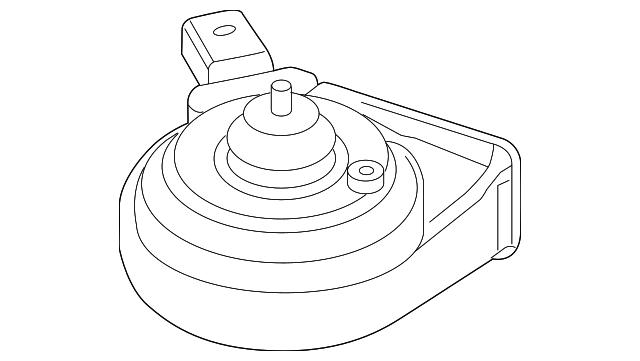 2005 2019 Volkswagen Low Note Horn 5c0 951 221 B