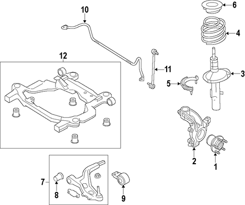 Front Suspension/Suspension Components for 2015 Ford Explorer #1