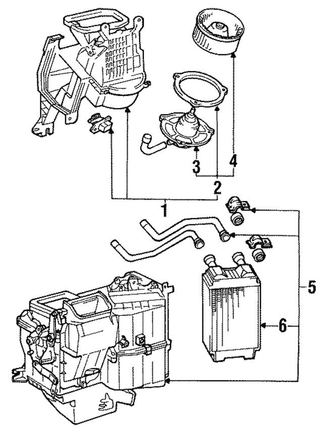 1984 1988 Toyota Blower Motor 87104 89110