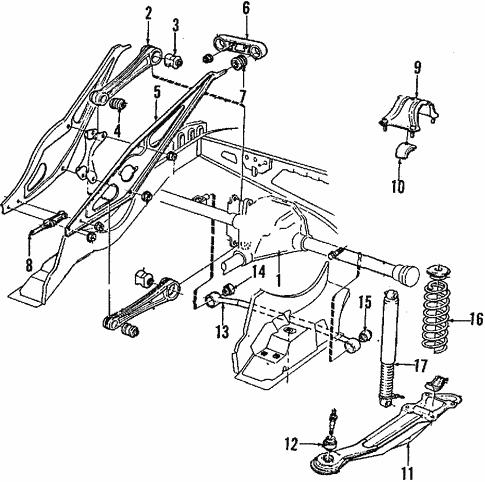 Rear Suspension For 1989 Volvo 760