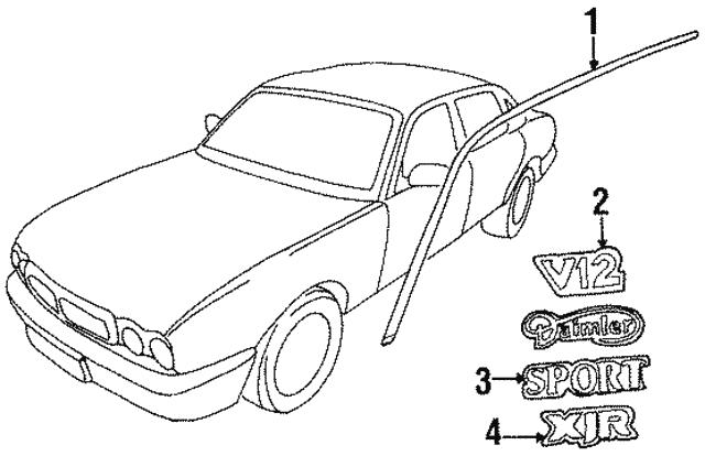 1996 1997 Jaguar Molding Jlm21297