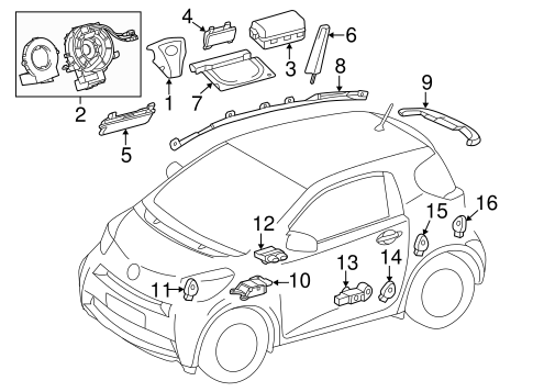 ELECTRICAL/AIR BAG COMPONENTS for 2012 Scion iQ #1