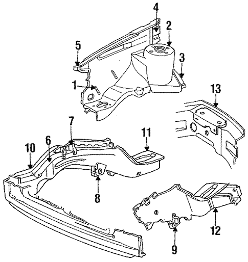 Structural Components & Rails for 1993 Chrysler Town & Country #0