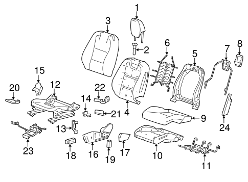 Camaro Seat Parts Diagram