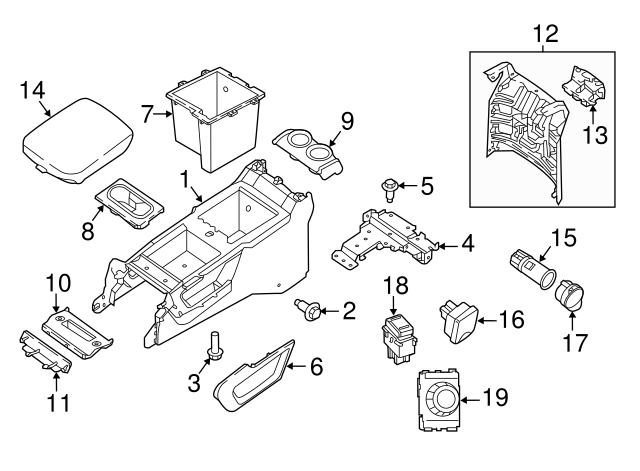 1996 2018 Nissan Glove Box Frame Screw 01451 00581