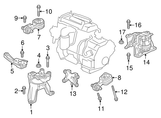 Honda Mounting Engine Side 2 4l 50820 Tlc A01
