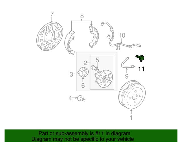 2010 toyota prius wiring diagram abs abs sensor wire bolt toyota  91611 b0614  toyota parts  abs sensor wire bolt toyota  91611