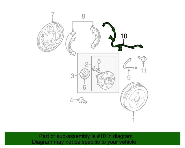 For Toyota Genuine ABS Wheel Speed Sensor Rear Right 8951652130