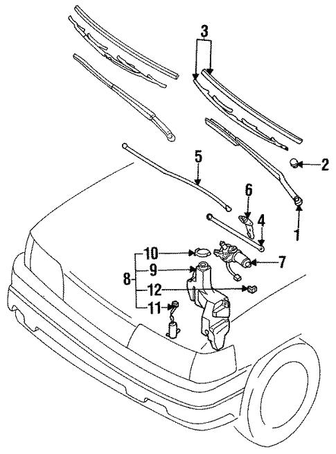 Genuine Oem Wipers Parts For 1992 Mazda Mpv Cargo