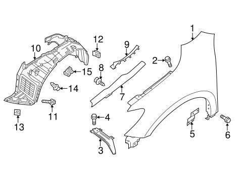 fender  u0026 components for 2014 nissan pathfinder