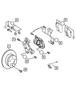 Disc Brake Pad Kit - Mopar (4862602AB)