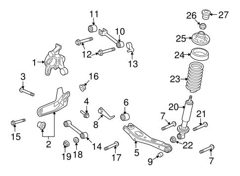FORD OEM Rear-Trailing Control Arm Nut W711233S441