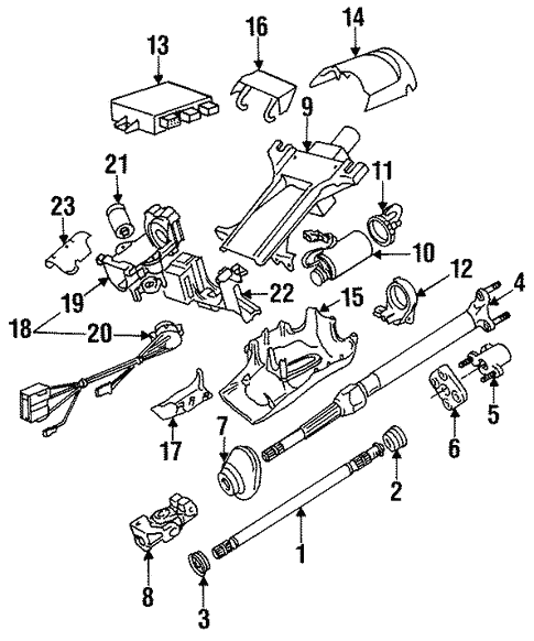 Steering Column Assembly for 1993 BMW 525iT #1