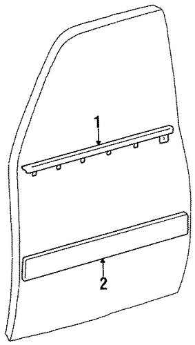 BODY/EXTERIOR TRIM - FRONT DOOR for 1996 Toyota Land Cruiser #1